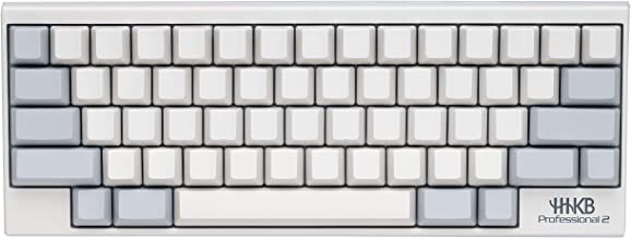 Happy Hacking Keyboard Professional2 (Compact, White, Blank Keycaps, 45G)