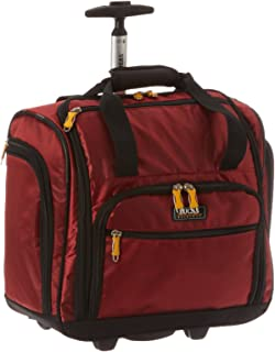 Lucas Cabin Luggage Collection - Small Lightweight 16 Inch Under Seat Bag - Garment Briefcase for Men & Women - Carry On Suitcase with 2- Rolling Spinner Wheels (Red)
