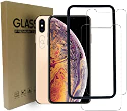 iPhone Xs Max Screen Protector 6.5 Inch (2-Pack + Camera Len Protector) (2018) Premium Tempered Glass [0.26mm] 9H Hardness 2.5D Film Super Easy Apply for iPhone Xs Max 6.5 inch
