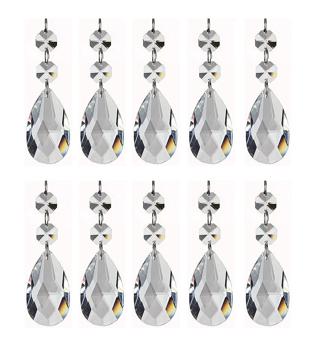 H&D 20pcs Pendants-Teardrop Chandelier Crystal Pendants Glass Pendants Beads sydx5586535489