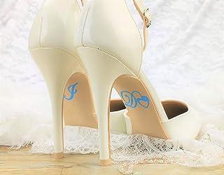 """Schuhsticker""""I Do"""" mit Herz - 13 Farben wählbar - Hochzeit Schuhaufkleber Farbe wählbar - Aufkleber für Schuhe"""