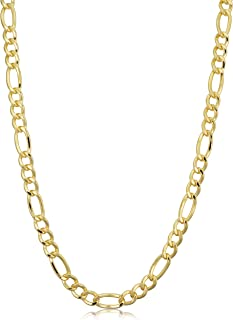 14k Yellow Gold Filled Figaro Necklace (3.3 mm, 4.2 mm, 5.2 mm, 6 mm, 7.8 mm or 8.6 mm)