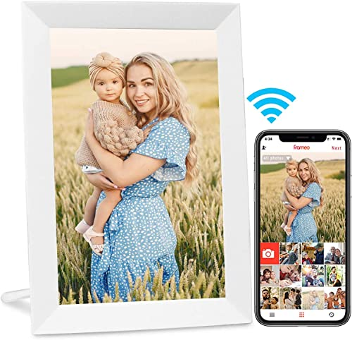 AEEZO Wifi Digital Picture Frame, IPS Touch Screen smart Cloud Photo Frame with 16GB Storage, Easy Setup to Share Pho...