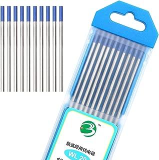 "DAHAN Tungsten Electrodes 1/16"" (Blue, WL20) 10-Pack"
