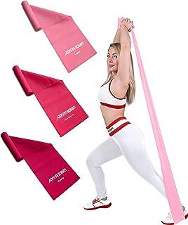 DoGeek Widerstandsband Fitnessb/änder Set 4-St/ärken by Ideal f/ür Muskelaufbau Physiotherapie Pilates Yoga Gymnastik und Crossfit Fitnessband Gymnastikband