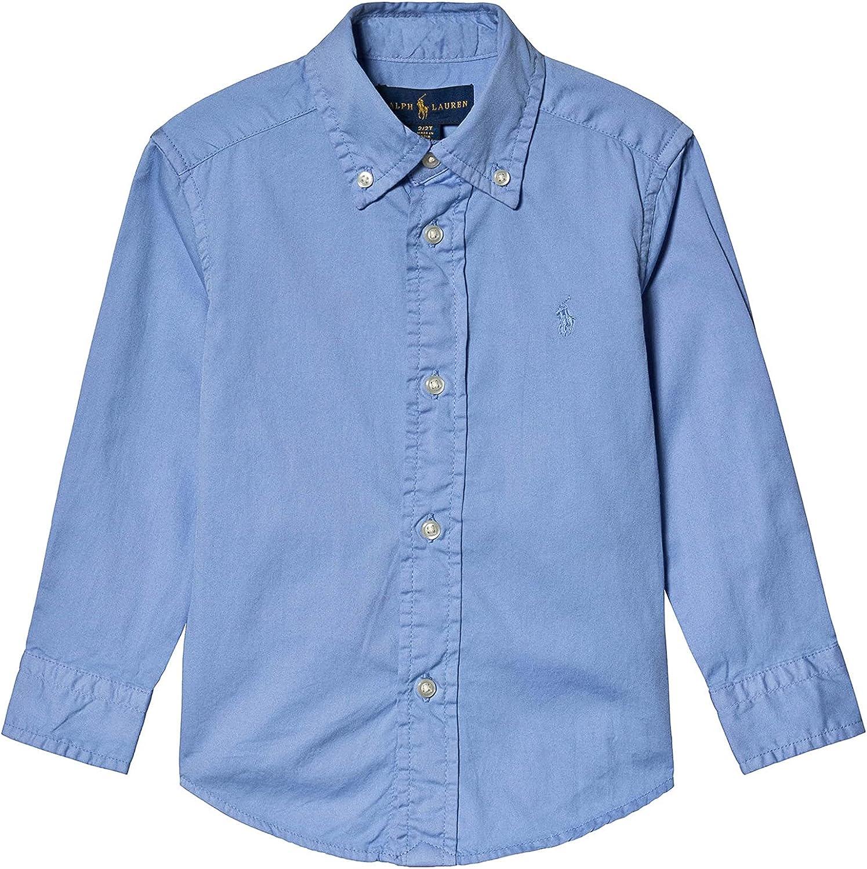 Ralph Lauren Fall Blue Boy's Garment-Dyed Twill Shirt, US Small