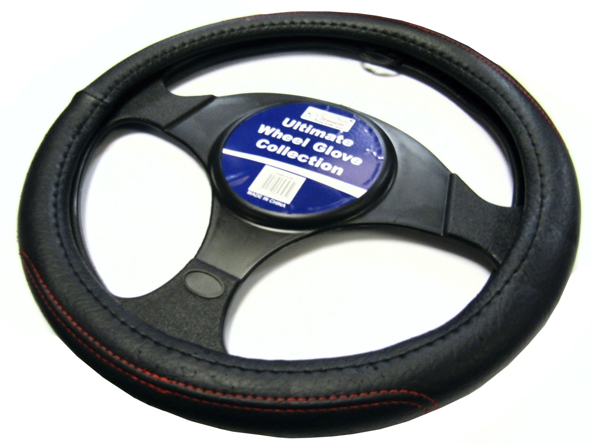 Red XtremeAuto Universal Car//Van Steering Wheel Cover Sleeve Glove