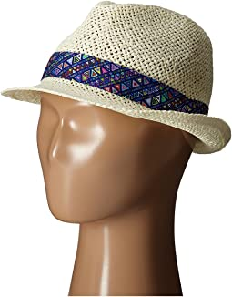 San Diego Hat Company Kids Fedora Hat with Noveltry Print Band (Little Kids)