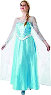 Frozen - Disfraz de princesa Elsa para mujer, talla M adulto (Rubie's 810243-M)