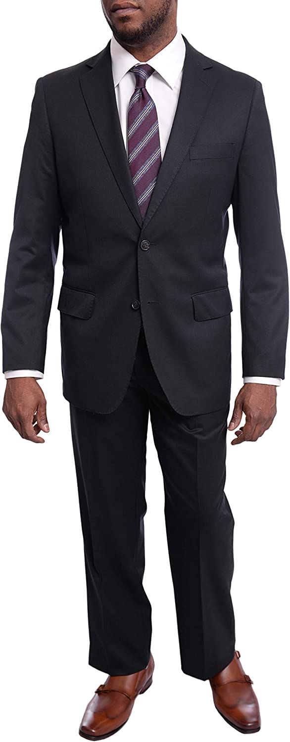 Arthur Black Mens Classic Fit 2 Button 2 Piece 100% Wool Suit with Pleated Pants