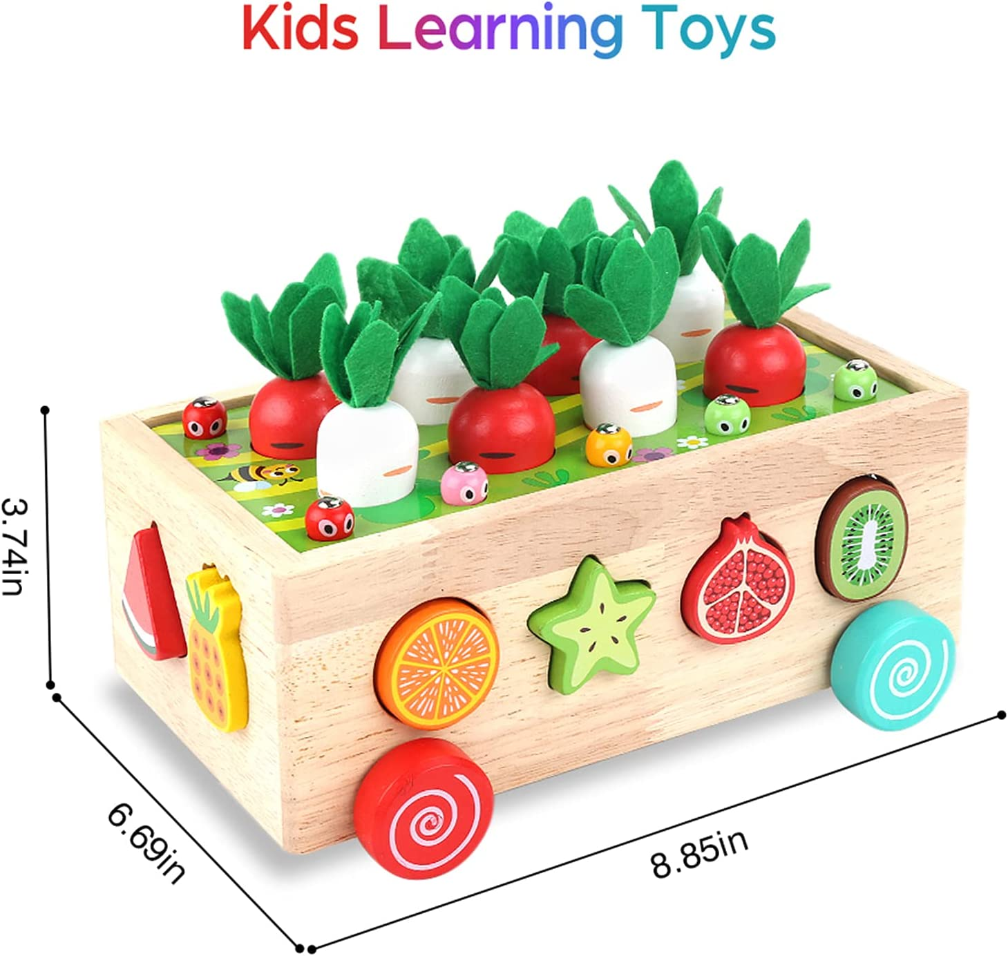 Toddlers Montessori Wooden Educational Toys for Boys Girls Age 2 3+ Year...