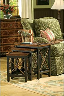 Hooker Furniture Seven Seas Nest of Three Tables w/Medallion Motif