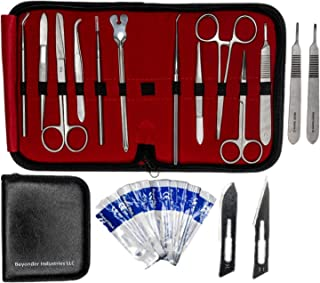 Dissection Kit 22 Pieces - Frog Dissection Kit, Pig Dissection Kit, for All Anatomy and Biology Medical Students by Beyonder Industries LLC (Black)