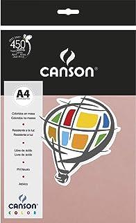 Papel Colorido A4 180g/m², Canson, 66661195, Rosa Claro, 10 Folhas