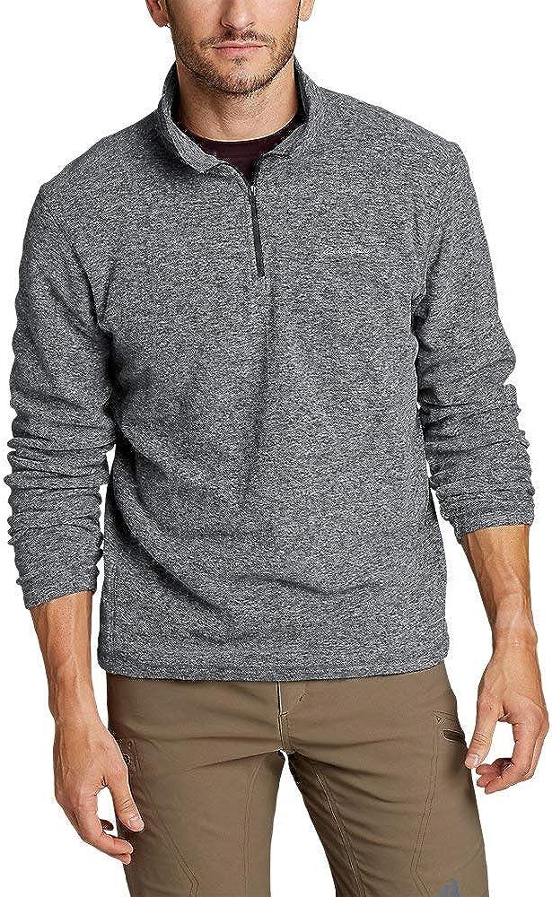 Eddie Bauer Men's Quest Fleece 1/4-Zip Pullover, Charcoal HTR Tall L