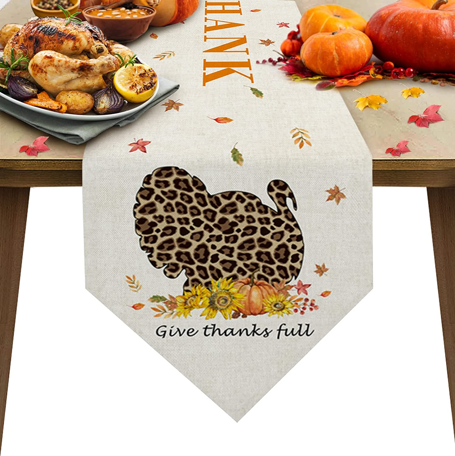 Triangle Super sale period limited Cotton Linen Table Runners Inches Long 120 Thanksgivin Oklahoma City Mall