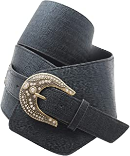 Women Purple Braided Narrow Faux Leather Belt Metal Buckle Hip High Waist M L