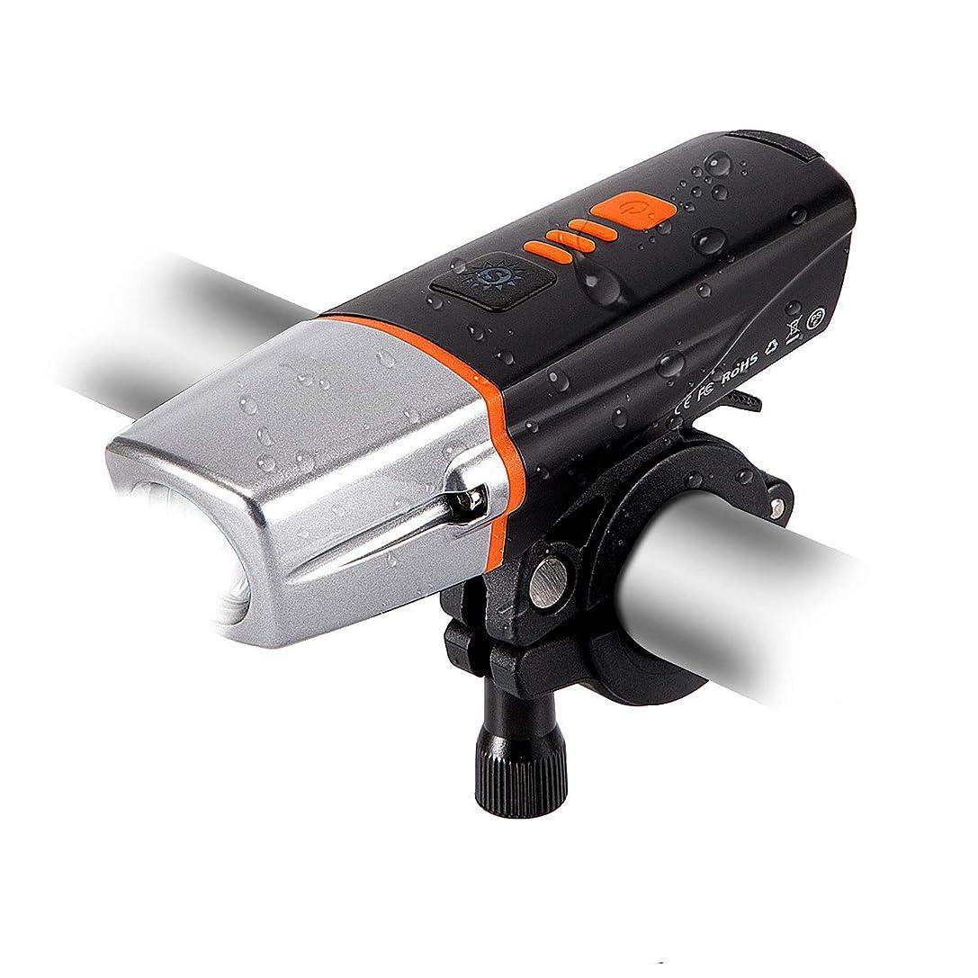 怠惰過去ピッチ【光センサー】自転車ライト自動点灯USB充電式2200mAh LEDヘッドライトき 6モード IP65防水 PSE認証済 懐中電灯 様々な自転車に対応