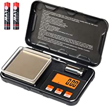 Digital Scale 200g x 0.01g Gram Scale with Pocket Size, 50g calibration weight,6 Units Conversion, LCD Back-Lit Display, U...