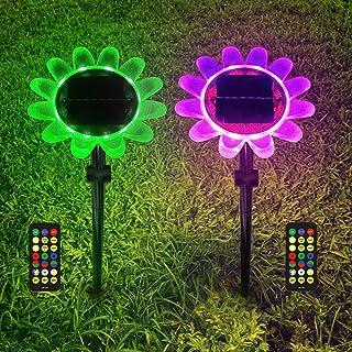 STN Lampe Solaire Exterieur,Lampe Solaire Jardin/LED Lumière Piscine Flottante 2 IN 1 LED Éclairage Solaire Jardin Décorat...