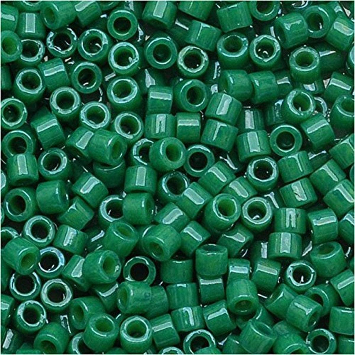 #11 round DB0663 7 Grams Seed Beads Delica\u00ae Opaque Jade Green