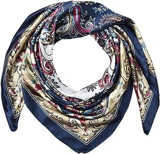 "35"" Silk Feeling 90 cm Square Hair Neck Sleeping Scarf for Women by corciova"