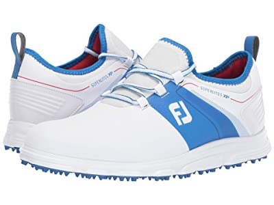FootJoy Superlites XP Spikeless (White/Red/Blue) Men