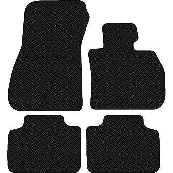 Carsio Auto Fußmatten Aus Gummi Für Bmw 2er Serie Active Tourer Ab 2014 3 Mm Schwarz 4 Teiliges Set Auto