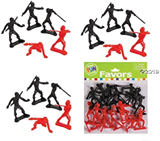 Awesome Ninja Warrior Party Favors ~ 36 NINJA ACTION FIGURES - Party Favors - Student Rewards Giveaways Karate/Martial Arts/Theme