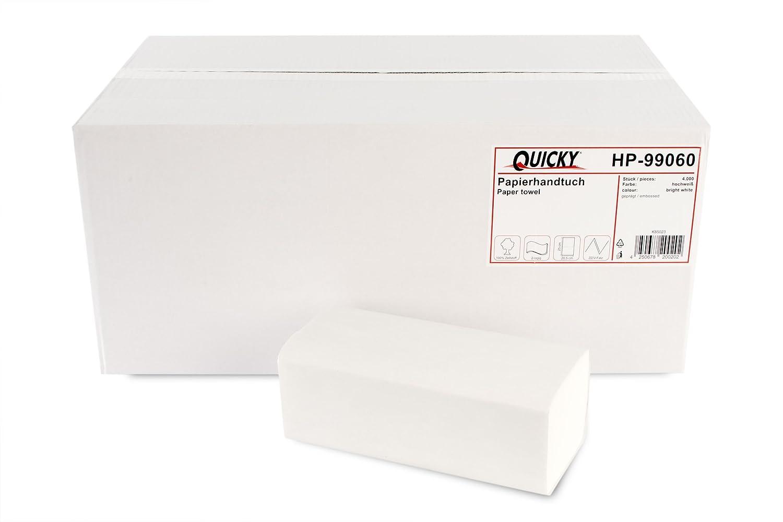 Quicky Papierhandtücher Zz Falz 25 X 20 5 Cm Hochweiß 4000 Blatt Gewerbe Industrie Wissenschaft
