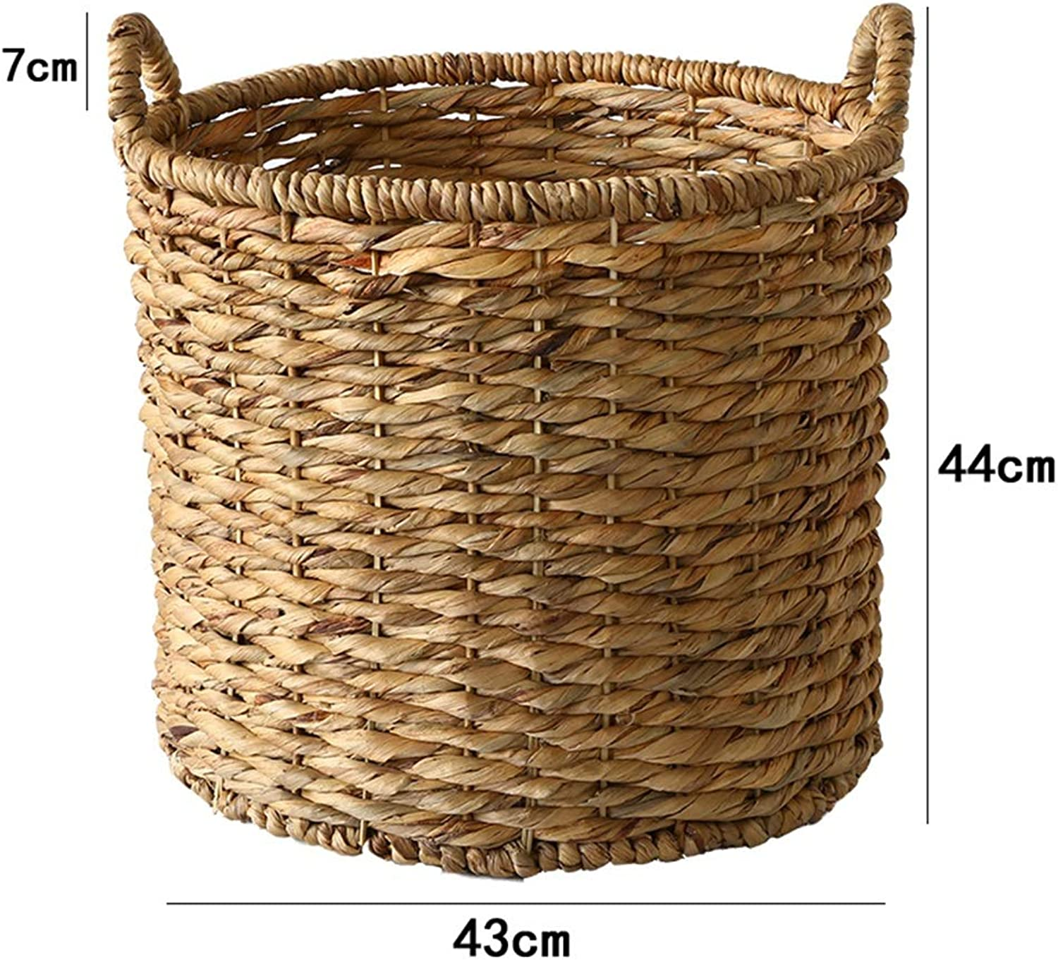 ZHANGQIANG Storage Basket Laundry Basket Rattan Laundry Hamper Multifunctional with Lid Hollow Household Storage Basket Wrought (color   Ordinary Style, Size   Large)