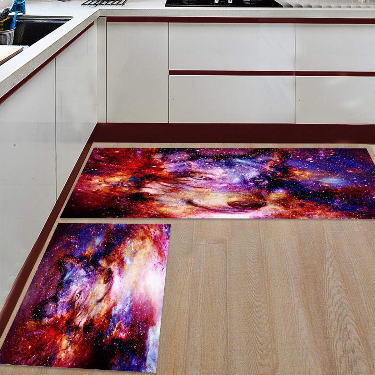 Advancey 2 Pieces Anti-Slip Max 77% OFF Import Kitchen Beautiful Dreamy Starry Mats