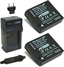 Wasabi Power Battery (2-Pack) and Charger for Panasonic DMW-BCJ13, DMW-BCJ13E, DMW-BCJ13PP and Panasonic Lumix DMC-LX5, DMC-LX7