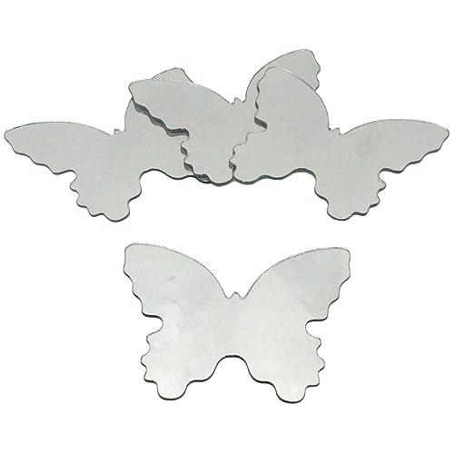 Thedecofactory MIR0008BTS Stickers Miroir Papillons ROOMMATES REPOSITIONNABLES (14X12CM), Vinyle, Multicolore, 26 x 26 x 1 cm