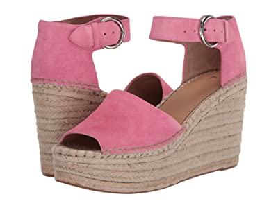 Marc Fisher LTD Alida Espadrille Wedge (Dark Pink Suede) Women
