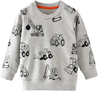 amropi Ropa Dinosaurios Niño Camiseta Manga Larga Tops Casual Sudadera para niños pequeños 2-7 años