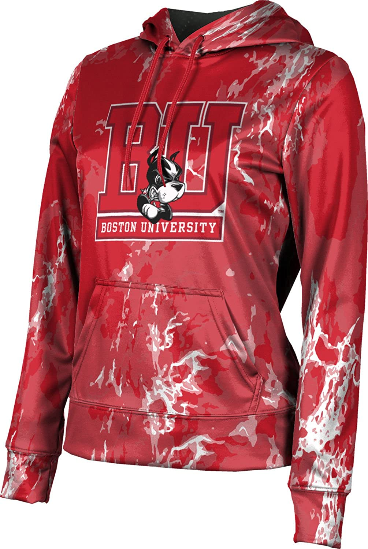 ProSphere Boston University Girls' Pullover Hoodie, School Spirit Sweatshirt (Marble)
