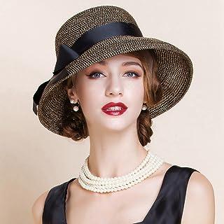 AINIYF Women's Sun Hat, Summer Leisure Outdoor Beach Hat Sun Protection UV Cool Hat