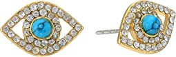 Rebecca Minkoff - Evil Eye Stud Earrings