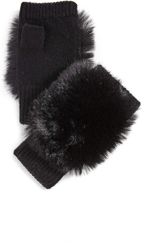 Adrienne Landau Women's Knit Fingerless Gloves