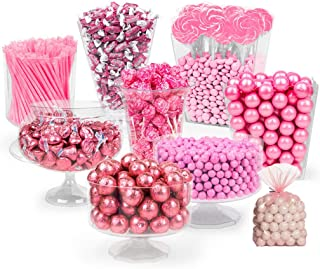Pink Candy Buffet Supplies (Approx 14 lbs) Pink Candy Table Supplies - Feeds approx 24-36 people