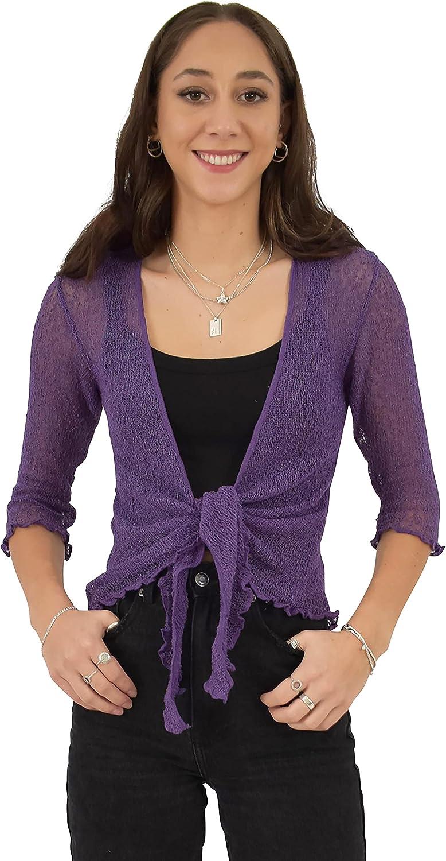Island Style Clothing Shrug Knit (Purple SS)