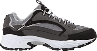 Skechers Sport Men's Stamina Nuovo Cutback Lace-Up Sneaker,Charcoal/Black,9.5 M US