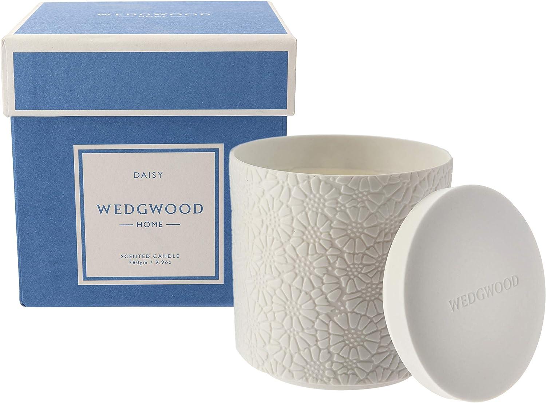 Wedgwood Iconic Luxury Ceramic Natural Candle - Daisy 8.4 oz