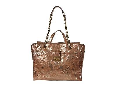 Frye Ella Tote (Dark Taupe Metallic) Handbags