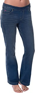 PajamaJeans Women's Bootcut Stretch Knit Denim Jeans - Blue - Tall - Small / 4-6