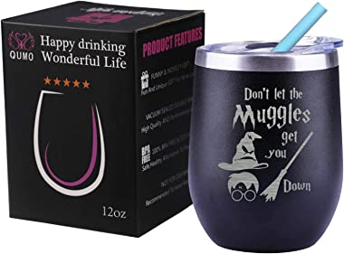 Harry Potter Funny Gifts For Him Her, Funny Muggle Fans Lover Gifts Birthday Christmas Wine Glass Cup
