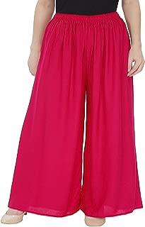 Zoya Collection ® - Women Rayon lower - Plazo – RANI- (MAGENTA) Color- PLUS SIZE fits 40-48 waist.