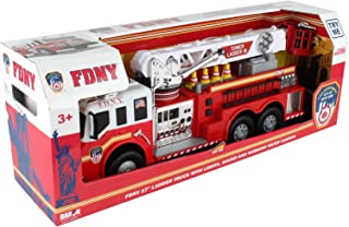 Daron FDNY 27' Ladder Truck with Lights, Sounds and Working Water Cannon 2019 New