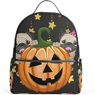 DEZIRO Halloween Perros Con Calabaza Senderismo Mochila Mochila Daypack Bolsa de Viaje